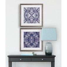 Bungalow Rose 'Inky Kaleidoscope' 2 Piece Framed Graphic Art Print Set BGRS8443