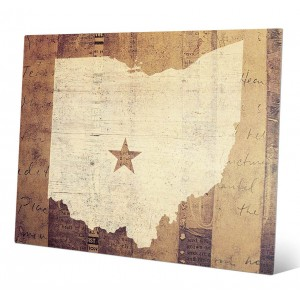 Click Wall Art 'Ohio Rustic' Graphic Art IZON3328