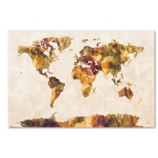 Ivy Bronx 'World Map Watercolor' Painting Graphic Art on Wrapped Canvas IVYB6778
