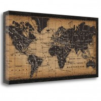 Tangletown Fine Art 'Old World Map' Graphic Art on Canvas TGFA5074