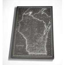 WexfordHome 'Wisconsin Sketch Map' Graphic Art Print on Wrapped Canvas WEXF2221