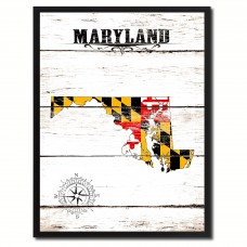 Wrought Studio 'Maryland State Vintage Flag' Framed Graphic Art Print on Canvas VRKG7791