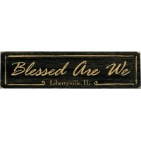 Artehouse LLC Personalized Blessed Are We Textual Art on Wood QVH4349