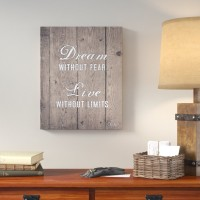 Loon Peak 'Without Limits' Textual Art on Canvas LNPE2402