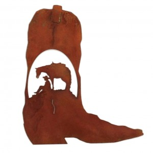7055 Inc Horse and Cowboy Cowboy Boot Wall Décor SSFI1063