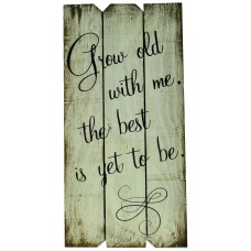 Boulder Innovations 'Grow Old With Me the Best is Yet To Be' Wall Décor BOIN1087