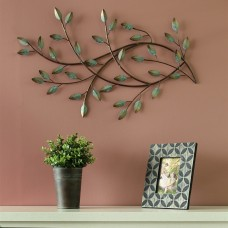 Charlton Home Patina Blowing Leaves Wall Décor CHRL8492
