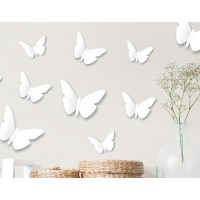 Harriet Bee 12 Piece Contemporary Butterfly 3D Wall Décor Set HBEE6577