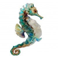 Highland Dunes Modern Metal Seahorse Wall Décor HLDS8837