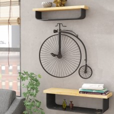 17 Stories Metal Bicycle Wall Décor STSS4096