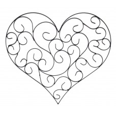 BayAccents Wrought Iron Heart Wall Decor ENTS1012