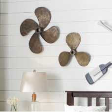 Beachcrest Home Metal Propellers Wall Decor Set BCMH4777