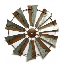 Gracie Oaks Emi Three Dimensional Metal Windmill Blades Wall Décor GRKS6609
