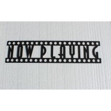 Say It All On The Wall Now Playing Sign Home Theater Metal Wall Décor SATW1026