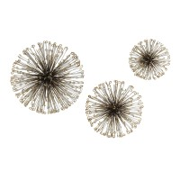 Highland Dunes Laserette 3 Piece Wire Flower Wall Decor Set HIDN6220