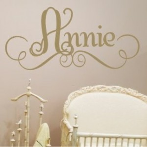 Alphabet Garden Designs Annie's Personalized Wall Decal XGD1089