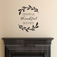 Belvedere Designs LLC Grateful Thankful Blessed Wall Quotes™ Decal BVDS1026