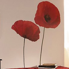 Brewster Home Fashions Euro Poppies Wall Decal BZH1762