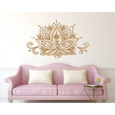 Decal House Mandala Lotus Flower Wall Decal DEHO1036