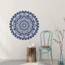 Decal House Mandala Yoga Decor Ornament Mehndi Bedroom Wall Decal DEHO1074