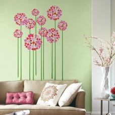 Room Mates Bright Floral Dot Peel and Stick Giant Wall Decal RZM3127