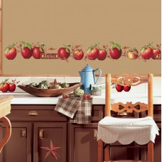 Room Mates Room Mates Deco 40 Piece Country Apples Wall Decal RZM2102