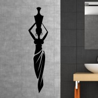Style and Apply African Lady with Vase Wall Decal SAAP1674