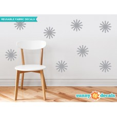 Sunny Decals Starburst Fabric Wall Decal UNNY1038