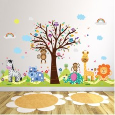 Zoomie Kids Howington Zoo and Happy Hills Wall Decal ZMIE6646