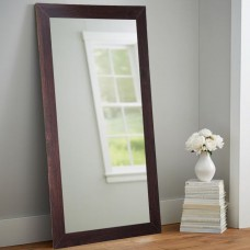 Darby Home Co Adalwin Dark Walnut Leaning Accent Wall Mirror DABY2909