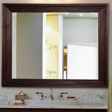 Darby Home Co Handcrafted Dark Brown Wall Mirror DBHC8291