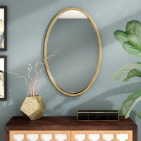 Langley Street Dudley Gold Oval Accent Mirror LGLY5932