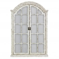 Lark Manor Window Cream Wood Wall Mirror LRKM2161