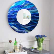 Latitude Run Circle Accent Wall Mirror LRUN1487