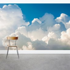 "Wallums Wall Decor Fluffy Clouds 8' x 144"" 3 Piece Wall Mural WWDR1120"