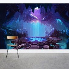 "Wallums Wall Decor Sci-fi Dungeon 8' x 144"" 3 Piece Wall Mural Set WWDR1209"
