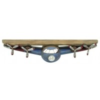 Cole Grey Wood and Metal Wall Shelf COGR9723