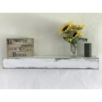 Essex Hand Crafted Wood Products Reclaimed Distressed Wood Floating Shelf FBWZ1033