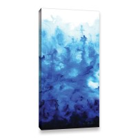 ArtWall Blue Watery by Shiela Gosselin Painting Print on Gallery-Wrapped Canvas JJM9397