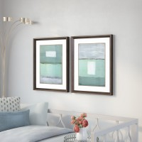 Brayden Studio Azure Blue 2 Piece Framed Painting Print Set BYST6634