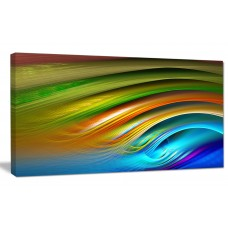 DesignArt Designart 'Colorful Fractal Water Ripples' Abstract Wall Art on Canvas AMIC4187