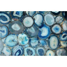 Marmont Hill 'Blue Geode Bunch' Print on Canvas MARM8241