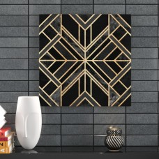 Wade Logan Black Marble Graphic Art on Wrapped Canvas WADL8349