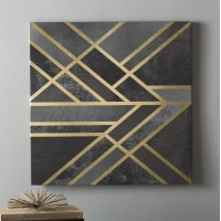 Willa Arlo Interiors 'Art Deco Geometry I' Graphic Art on Wrapped Canvas WRLO7558