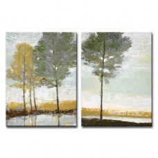"Winston Porter 'Lakeside View I/II"" 2 Piece Painting Print on Wrapped Canvas Set WNST1288"