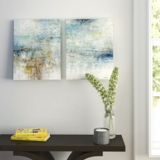 Zipcode Design 'Refreshed' 2 Piece Painting Print on Wrapped Canvas Set ZPCD4127