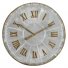 "August Grove Oversized Galvanized Metal 28.5"" Wall Clock AGGR4604"