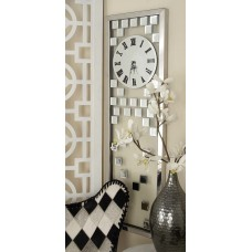 Cole Grey Stainless Steel Glass Mirror Wall Clock COGR9863