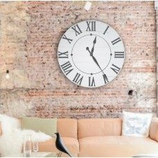 Darby Home Co Oversized Neal Farmhouse Wall Clock DRBH1672