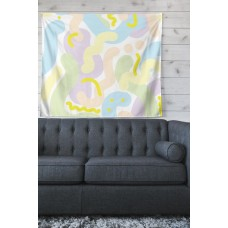 East Urban Home Illustration 'Pastel Futuristic' by Vasare Nar Wall Tapestry HOBX1573